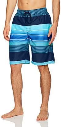 Kanu Surf Men's Echelon Stripe Quick Dry Beach Board Shorts Swim Trunk