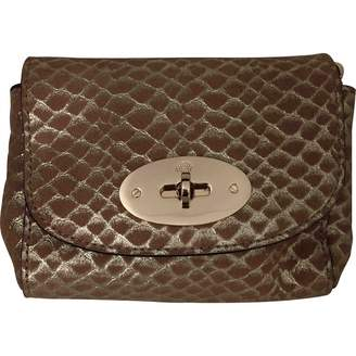 Mulberry Lily Gold Leather Clutch Bag