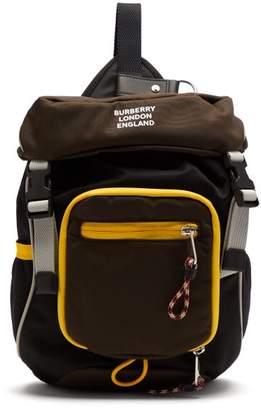 Burberry Logo Print Mini Backpack - Mens - Grey