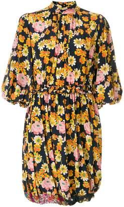 Joseph puff sleeve floral dress