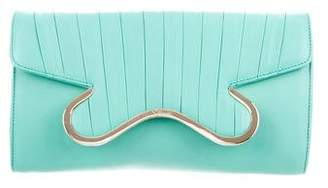 Christian Louboutin Leather Flap Clutch