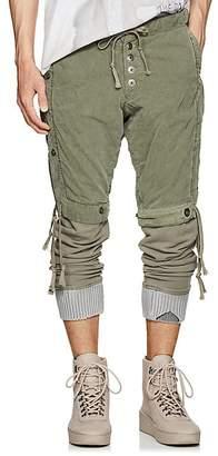Greg Lauren Men's Layered Cotton Lounge Pants