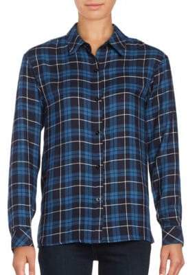 Honey Punch Plaid Flannel Button-Front Shirt