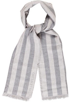 ValentinoValentino Wool Striped Scarf