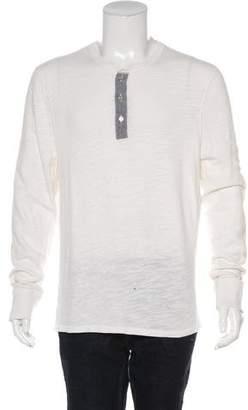 Rag & Bone Woven Henley T-Shirt