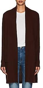 Barneys New York WOMEN'S WOOL-CASHMERE CARDIGAN-BROWN SIZE S