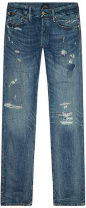 Polo Ralph Lauren Varick Slim-Fit Distressed Jeans
