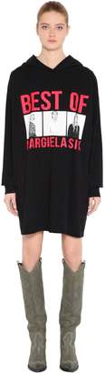 MM6 MAISON MARGIELA BEST OF PRINT HOODED SWEATSHIRT DRESS