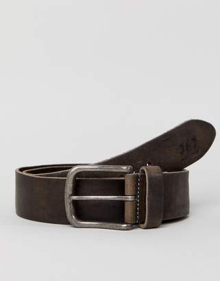 Jack and Jones Charcoal Leather Belt
