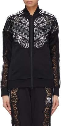 Stella McCartney x adidas 3-Stripes sleeve lace panel track jacket