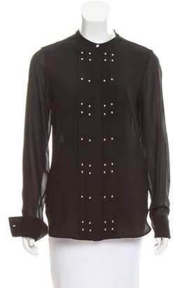 Belstaff Stud-Embellished Silk Top