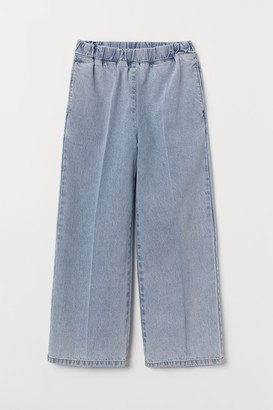 H&M Wide pull-on denim trousers
