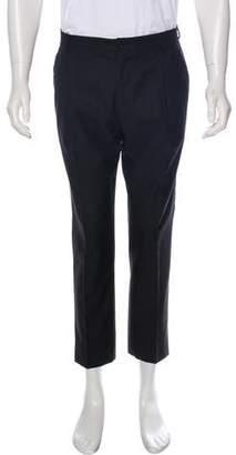 Dolce & Gabbana Pleated Wool & Silk Cropped Pants