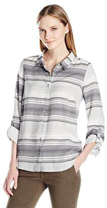 G.H. Bass & Co. Women's Rayon Stripe Top