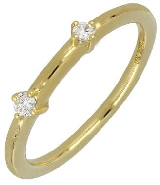 Bony Levy 18K Yellow Gold Double Diamond Stack Ring - 0.09 ctw