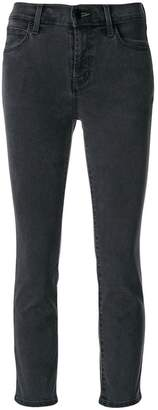 J Brand cropped skinny fit jeans