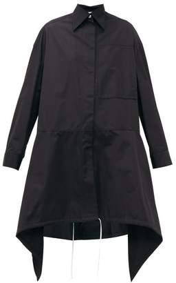 Loewe Handkerchief Hem Technical Twill Parka - Womens - Black White
