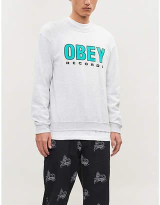 Obey Logo-print cotton-blend sweatshirt