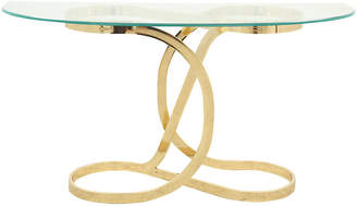 One Kings Lane Vintage Brass and Glass Console Table