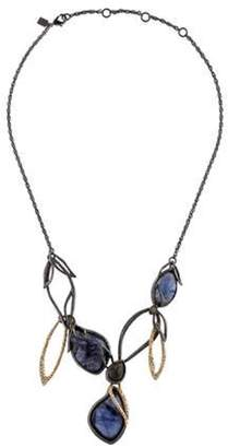 Alexis Bittar Labradorite & Crystal Collar Necklace Gold Labradorite & Crystal Collar Necklace