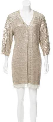 Reed Krakoff Metal Sequin Mini Dress