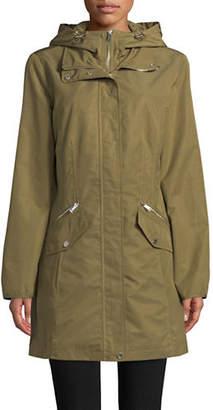 London Fog Hooded Bib Jacket