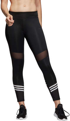 adidas Designed To Move 7/8 Mesh 3 Stripe Tight Stripe Knit Leggings