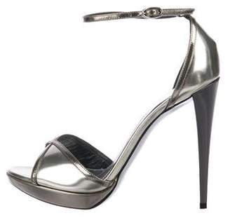 Azzaro Leather Ankle-Strap Sandals