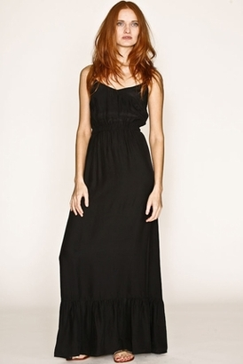 Twelfth Street by Cynthia Vincent Ruffle Slip Dress in Black $278 thestylecure.com