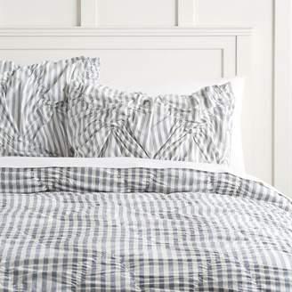 Pottery Barn Teen The Emily & Meritt Striped Comforter, Full/Queen, Chambray Blue