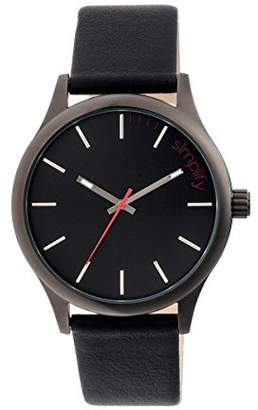 Simplify Women 'The 2400' Precise Professional Quartz Movement Stainless Steel and Leather Watch(Model: BOUBM3101)