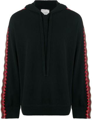Laneus contrast detail hoodie