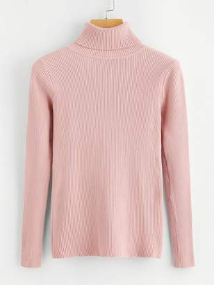 Shein High Neck Solid Jumper
