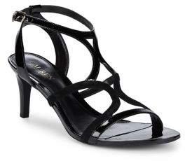 Lauren Ralph Lauren Strappy Patent Leather Ankle Strap Sandals