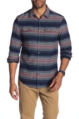 Original Penguin Stripe Brushed Long Sleeve Heritage Slim Fit Flannel Shirt