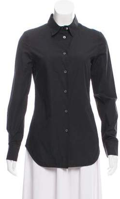 Hache Long Sleeve Button-Up Top