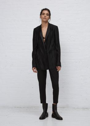 Haider Ackermann canis black / tankay black plisse blazer $3,545 thestylecure.com