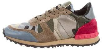 Valentino Rockrunner Camo Sneakers