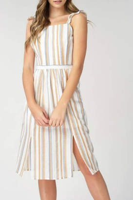 Listicle Apron-Front Midi Dress