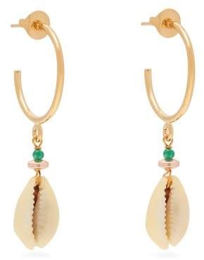 Isabel Marant Malebo Shell Drop Earrings - Womens - White