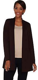 Susan Graver Premier Knit Open Front Cardigan