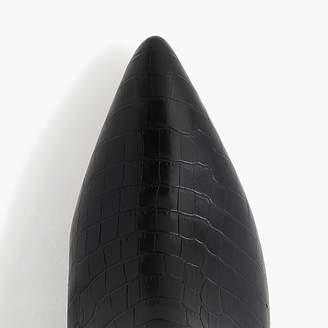 J.Crew Kitten-heel Chelsea boots in faux snakeskin