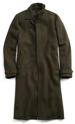 Todd Snyder Made in New York Double Knit Olive Topcoat