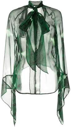 Petar Petrov sheer snake print blouse