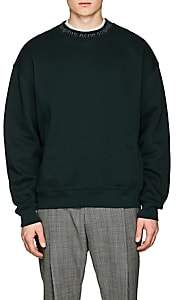 Acne Studios Men's Flogho Cotton Fleece Sweatshirt - Green