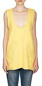 J.W.Anderson WOMEN'S STRETCH-COTTON TERRY V-NECK TUNIC - YELLOW SIZE XS