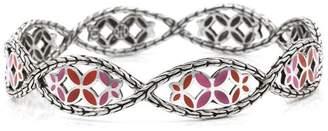John Hardy Kawung 925 Sterling Silver Enamel Bracelet