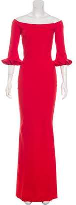 Chiara Boni Off-The-Shoulder Evening Dress