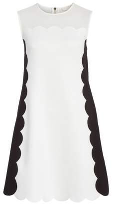 Ted Baker Contrast Scallop Overlay A-Line Dress