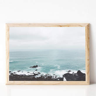 Cassia Beck Art and Photography Rocky Shore Coastal Photographic Print